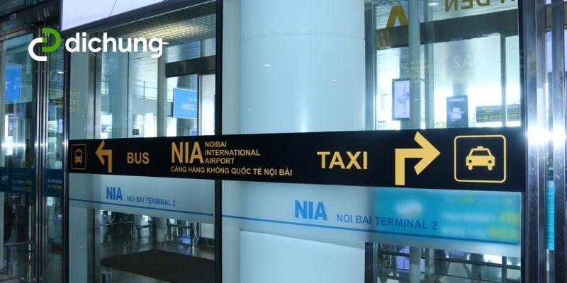 xe ra sân bay Nội Bài 4